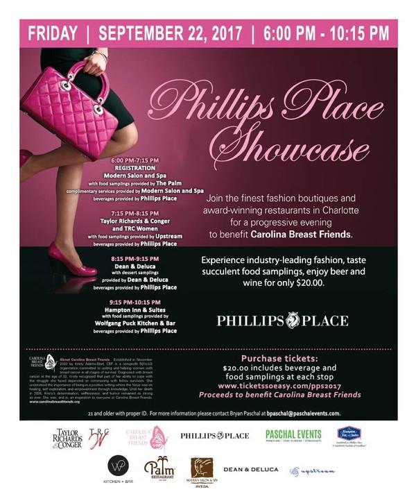 Phillips Place Showcase Carolina Breast Friends